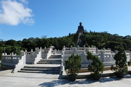 View up to Tian Tan Buddha