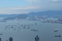 View of Hong Kong Straits from The Peak