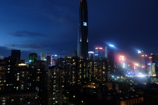 View to Shenzhen at night