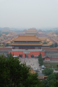 View from Jingshan Park over Forbidden City