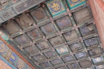 A ceiling not yet restored