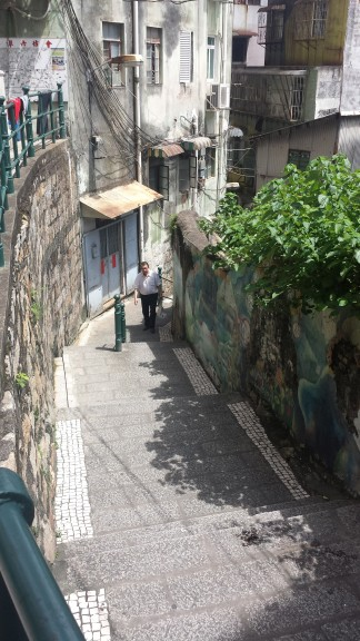 Steps descending to the ports, old Macau