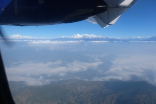 The Himalayas from the plane