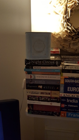 The lamp on books!
