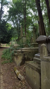 Tombs near the entrance to West Cem