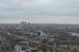 Out east towards Canary Wharf